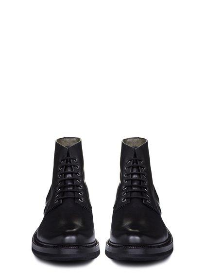 RICK OWENS SS19 BABEL CHUKKA SLIM CREEPER SOLE BOOTS IN BLACK