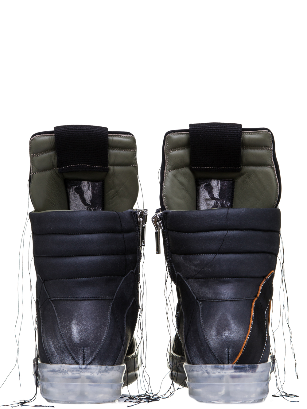 RICK OWENS SS19 BABEL GEOBASKETS IN BLUEJAY BLUE CALF LEATHER