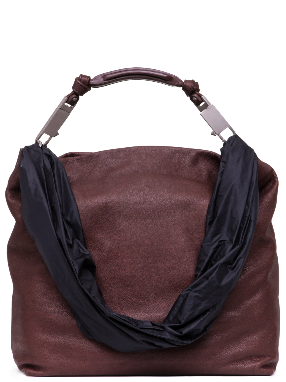 RICK OWENS SS19 BABEL MEDIUM BALOON BAG IN BLOOD RED CALF LEATHER