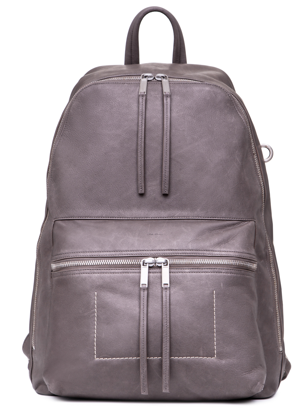 RICK OWENS SS19 BABEL BACKPACK IN DUST GREY CALF LEATHER