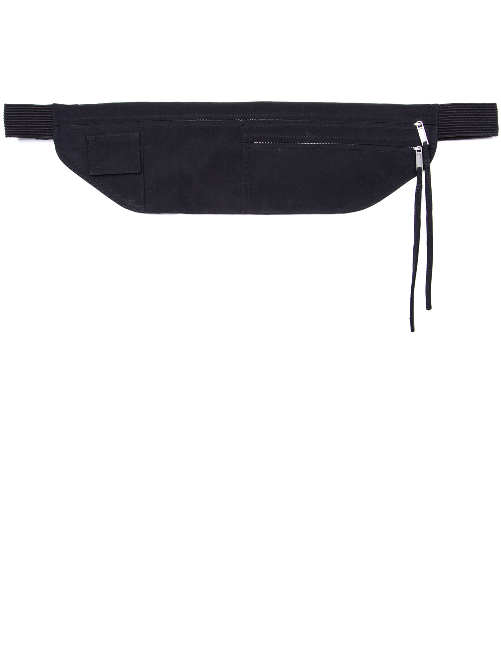 RICK OWENS SS19 BABEL MONEY BELT IN BLACK SILK CREPE