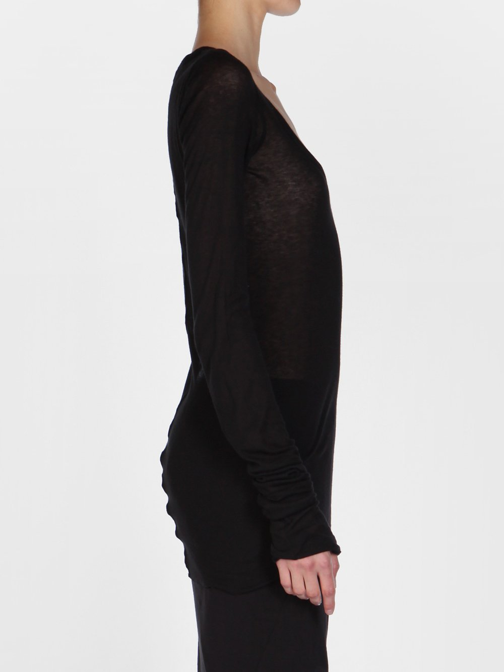 RICK OWENS LILIES - ROUND-NECK TOP