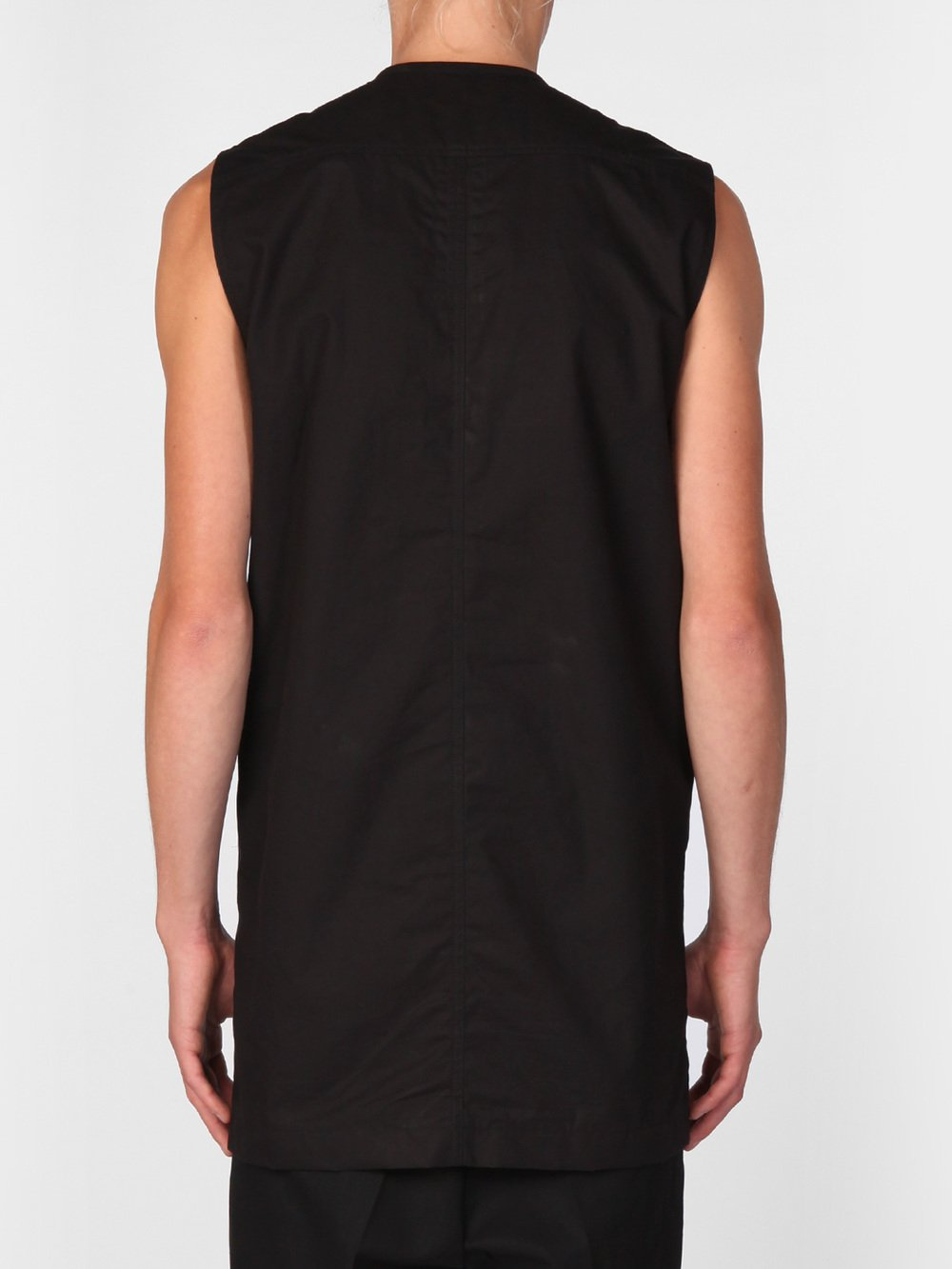 RICK OWENS - SLEEVELESS BIKER SHIRT