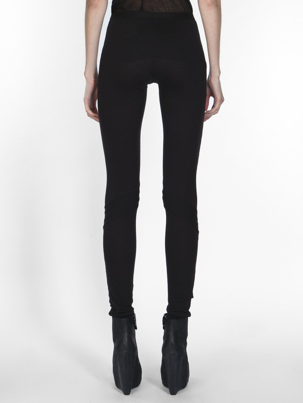RICK OWENS LILIES - TOPSTITCHED LEGGINGS