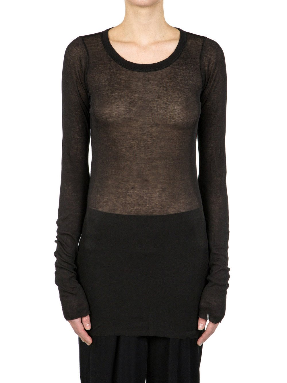 Rick Owens long sleeve top Low Shipping Cheap Sale Cheap 2018 New Online Buy Cheap Price ayW3pz1Zu